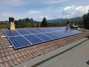 Foto di un impianto fotovoltaico da 5kw in kit fotovoltaico semplice