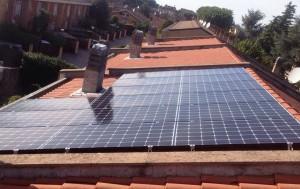 foto di un impianto fotovoltaico semplice da 4 kw
